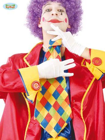 Duży kolorowy krawat klauna na imprezy