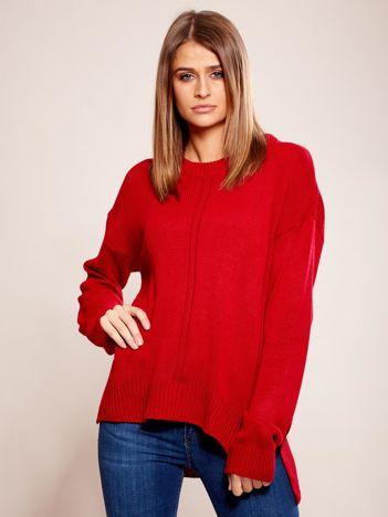 Dzianinowy sweter czerwony