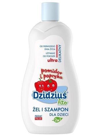 Dzidziuś Fito Żel i szampon 2 w 1 dla dzieci ultra delikatny Pomidor i Papryka 500 ml