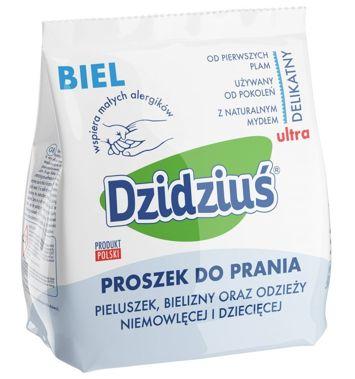 Dzidziuś Proszek do prania pieluszek, bielizny, odzieży niemowlęcej Biel 850 g