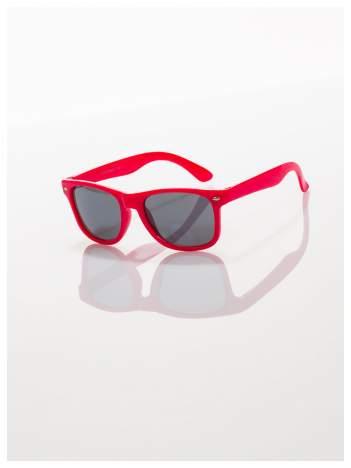 Dziecięce czerwone okulary z klasyczną oprawką WAYFARER NERD z filtrami