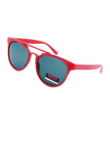 Dziecięce okulary przeciwsłoneczne czerwone z filtrami