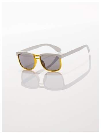 Dziecięcebiało-złote okulary przeciwsłoneczne z filtrami