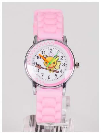 Dziecięcy różowy zegarek PSZCZÓŁKA