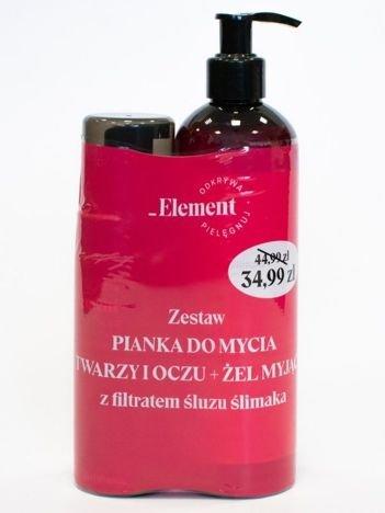 ELFA Pharm Vis Plantis _Element Filtrat śluzu ślimaka Dwupak pianka do mycia twarzy + żel myjący do ciała