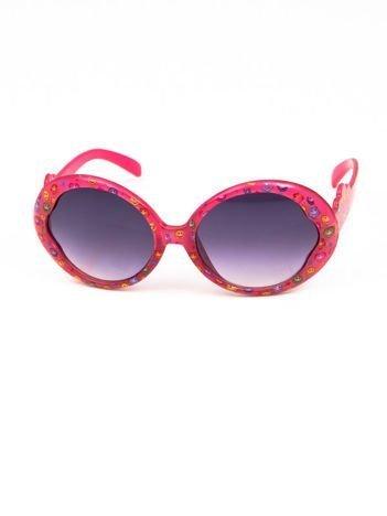EMOJI Dziecięce przeciwsłoneczne okulary z filtrami EMOTICONS ciemnoróżowy