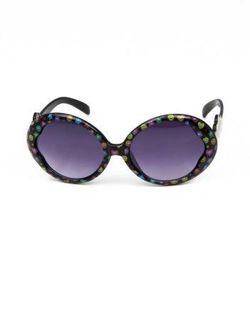 EMOJI Dziecięce przeciwsłoneczne okulary z filtrami EMOTICONS czarne