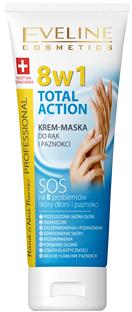 EVELINE HAND & NAIL THERAPY Total Action 8w1 KREM-MASKA DO RĄK I PAZNOKCI 75 ml