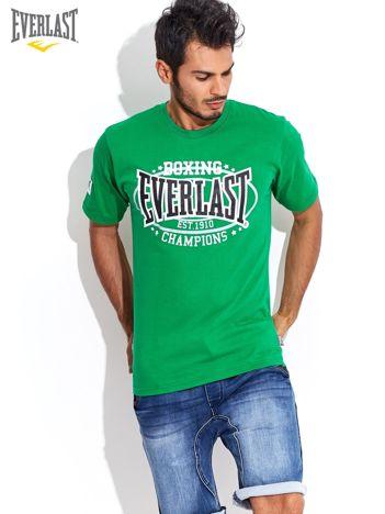 EVERLAST Zielony t-shirt męski z nadrukiem sportowym