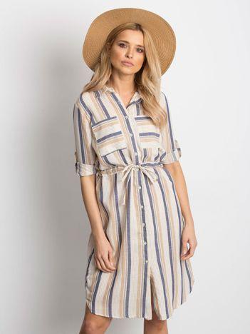407d001f2a Ecru-beżowa sukienka Versatile
