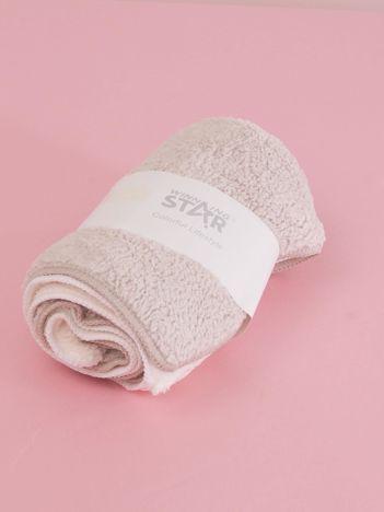 Ecru-beżowy komplet ręczników frotte do rąk 2 sztuki