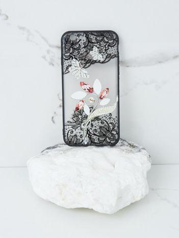 Ecru-czarne etui do iPhone 7G/8G