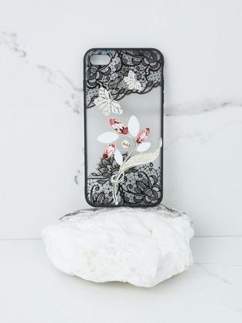Ecru-czarne etui iPhone 7 Plus iPhone 8 Plus