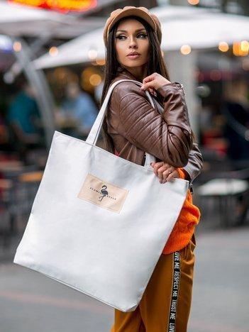 Ecru duża torba na zakupy