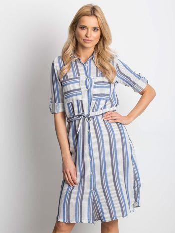 c55d2208d5 Ecru-niebieska sukienka Versatile