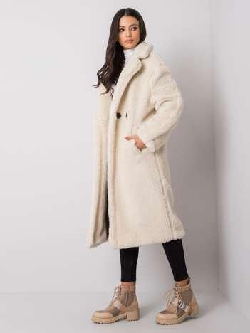 Ecru płaszcz futrzany Alessandra RUE PARIS