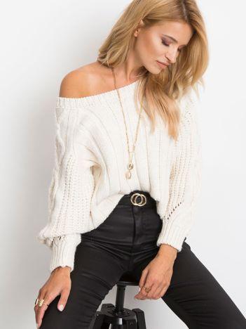 Ecru sweter Tulsa