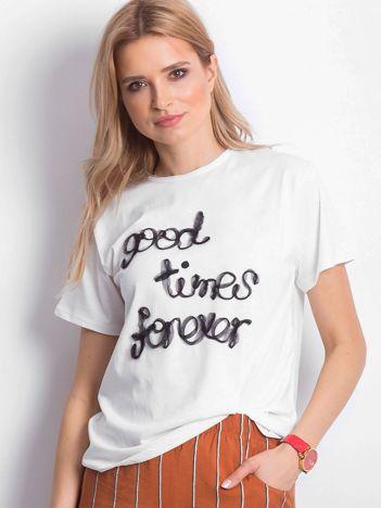 Ecru t-shirt Good Times Forever