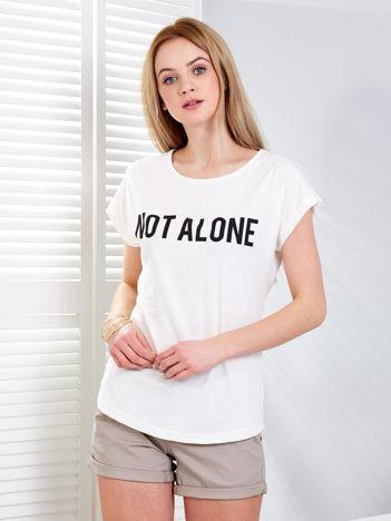 Ecru t-shirt NOT ALONE