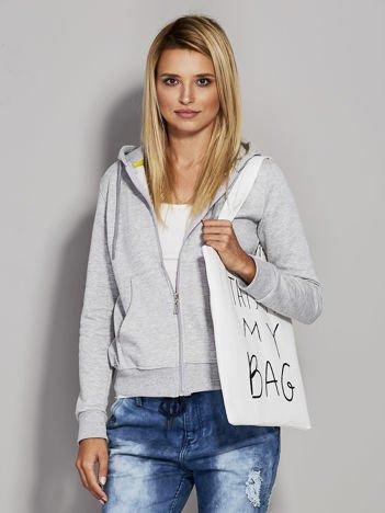 Ecru torba materiałowa THIS IS MY BAG
