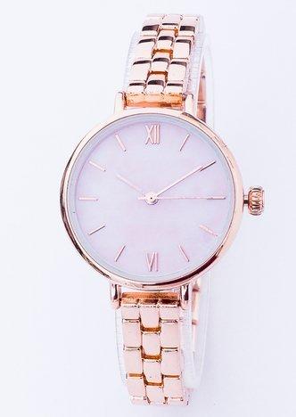 Elegancki zegarek damski na bransolecie w czerwonym złocie