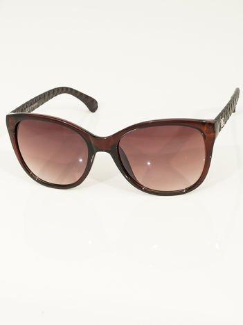 Eleganckie brązowe przeciwsłoneczne okulary damskie