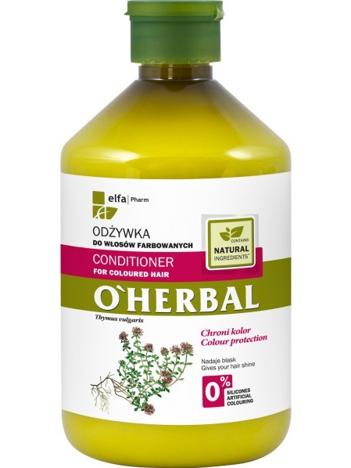 Elfa Pharm O'Herbal Odżywka do włosów farbowanych z macierzanką i tymiankiem 500 ml