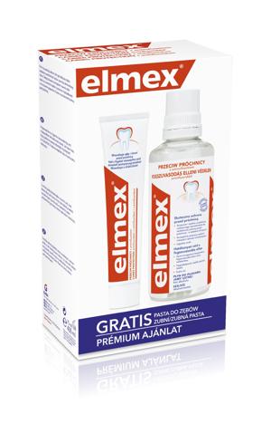 """Elmex Zestaw w kasecie Przeciw Próchnicy (płyn do płukania ust 400ml + pasta do zębów 75ml)"""""""