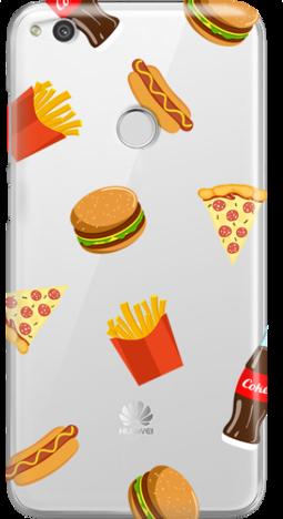 Etui do telefonu Huawei P8/P9 Lite 2017 Food