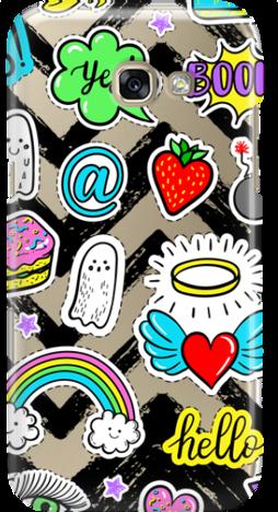 Etui do telefonu Samsung Galaxy A3 2017 Stickers