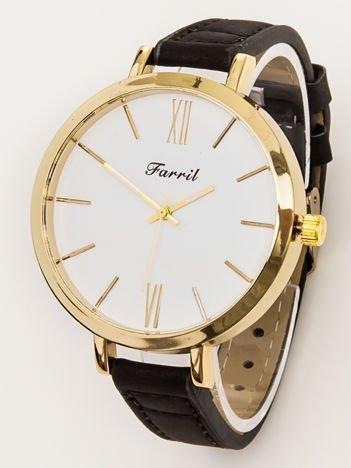 FARRIL czarny damski zegarek z dużą tarczą