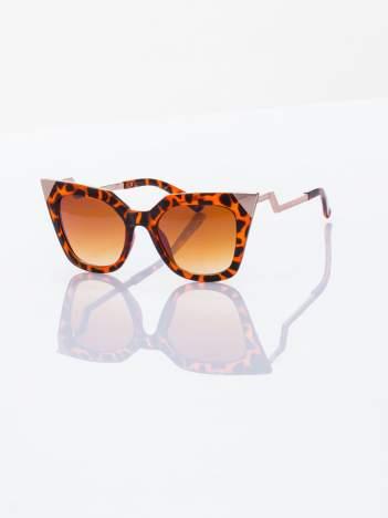 FASHION leopard okulary przeciwsłoneczne KOCIE OCZY stylizowane na FENDI