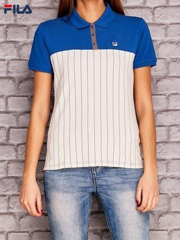 FILA Niebiesko-biała koszulka polo w paski