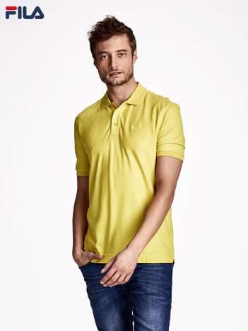 FILA Żółta koszulka polo męska