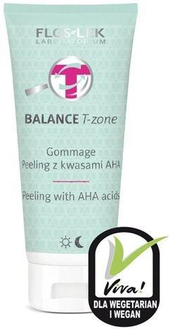 FLOSLEK BALANCE T-zone Gommage peeling z kwasami AHA 125 g