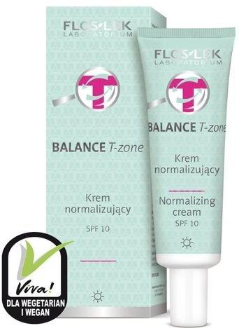 FLOSLEK BALANCE T-zone Krem normalizujący na dzień do cery mieszanej SPF 10 50 ml