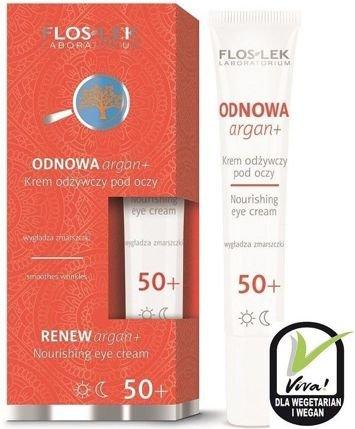 FLOSLEK ODNOWA argan+ Krem odżywczy pod oczy 50+ 15 ml
