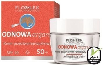 FLOSLEK ODNOWA argan+ Krem przeciwzmarszczkowy 50+ SPF 10 na dzień 50 ml