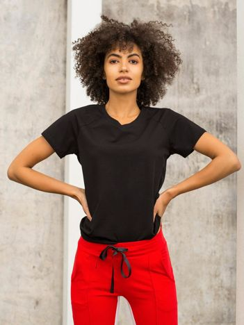FOR FITNESS Czarny t-shirt Layla