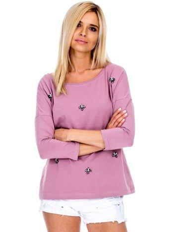 Fioletowa bluzka z diamencikami