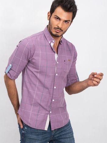 Fioletowa koszula męska Journey