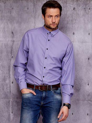 Fioletowa koszula męska PLUS SIZE