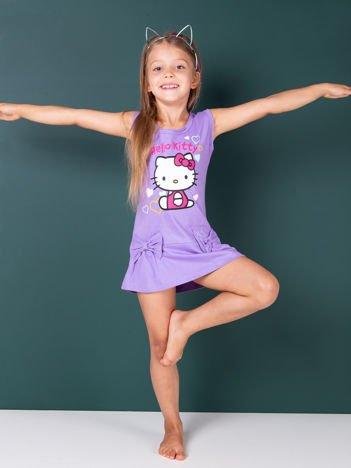 Fioletowa sukienka dla dziewczynki HELLO KITTY