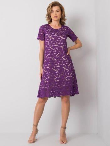 Fioletowa sukienka koronkowa Lulu