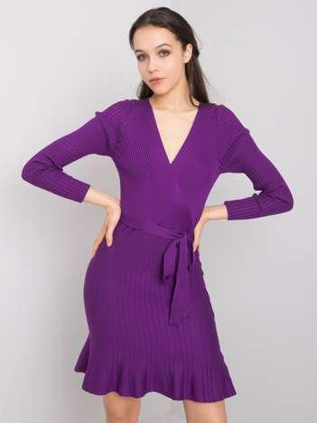 Fioletowa sukienka na co dzień Carmel