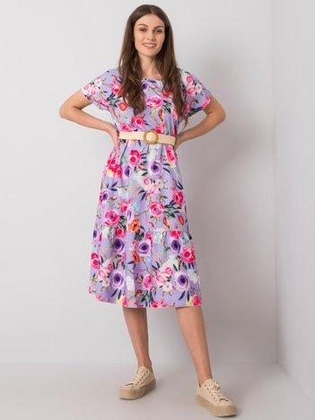 Fioletowa sukienka w kwiaty Iara