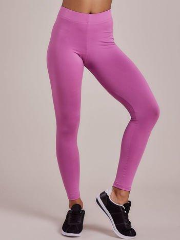 Fioletowe długie cienkie legginsy do biegania