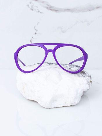 Fioletowe okulary bez szkieł