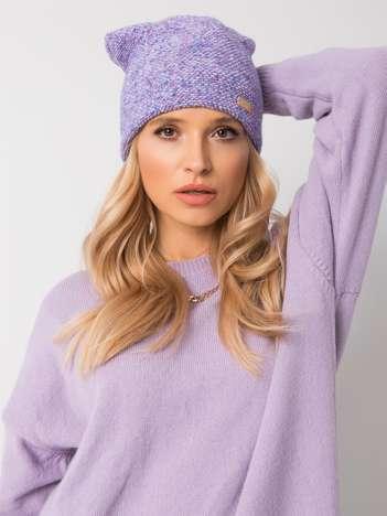 Fioletowo-niebieska czapka zimowa RUE PARIS