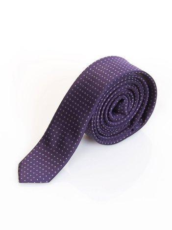 Fioletowy krawat w kropki